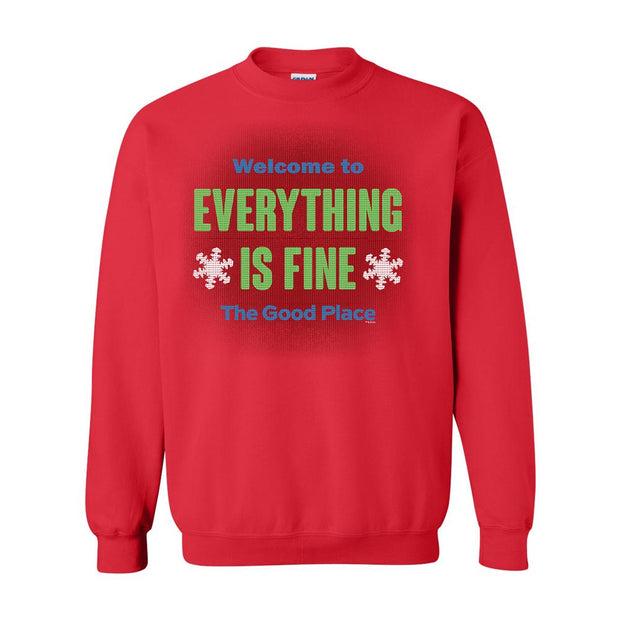 The Good Place Everything Is Fine Ugly Christmas Sweatshirt