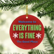 The Good Place Everything Is Fine Double-Sided Ornament