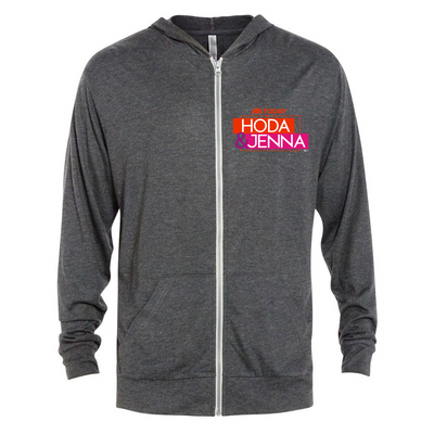 TODAY Show With Hoda & Jenna Tri-Blend Zip-Up Hooded Sweatshirt