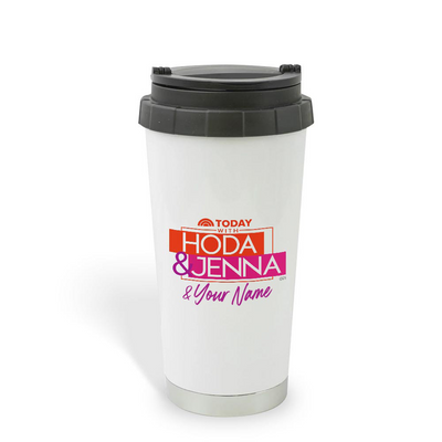 TODAY Show With Hoda & Jenna Personalized 16 oz Stainless Steel Thermal Travel Mug