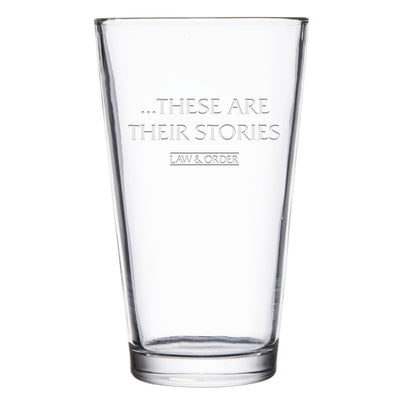 Law & Order: SVU These are Their Stories Laser Engraved Pint Glass