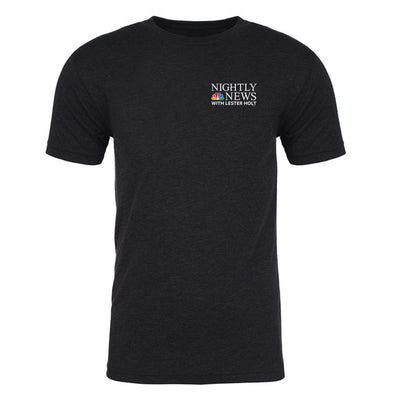 NBC Nightly News with Lester Holt Logo Men's Tri-Blend T-Shirt