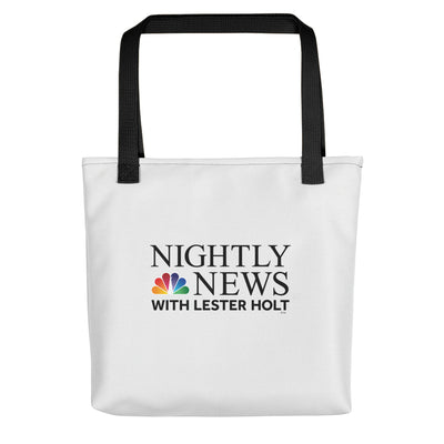 NBC Nightly News with Lester Holt Logo Premium Tote Bag