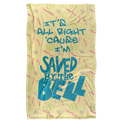 Saved By The Bell It's All Right Fleece Blanket