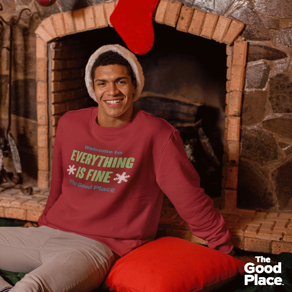 The Good Place Everything Is Fine Ugly Christmas Sweatshirt-secondary-image