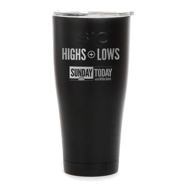 Sunday TODAY Highs + Lows Laser Engraved SIC Tumbler
