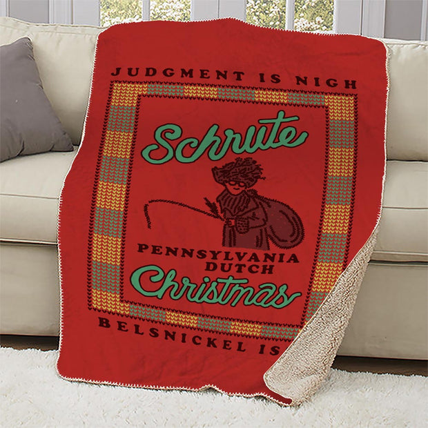 The Office Dwight Belsnickel Sherpa Blanket