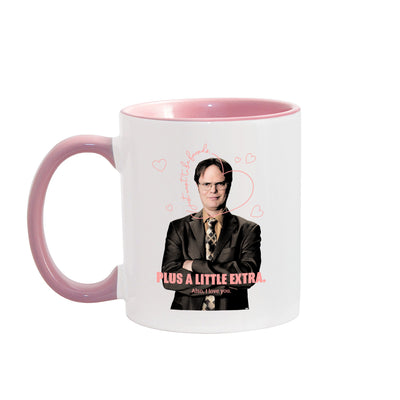 The Office Dwight's Love Quote  Two-Tone Mug