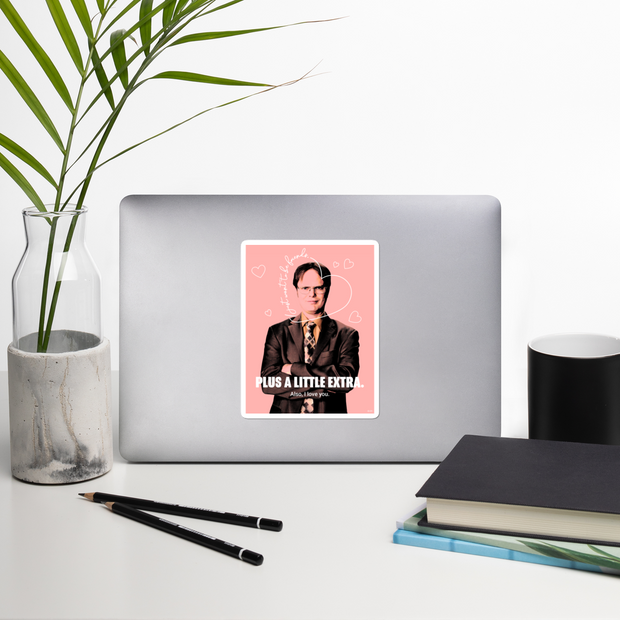 The Office Dwight's Love Quote Die Cut Sticker