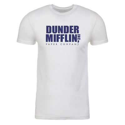The Office Dunder Mifflin Blue Adult Short Sleeve T-Shirt