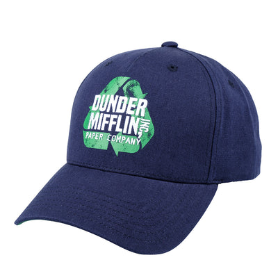 The Office Dunder Mifflin Recycle Curved Baseball Hat