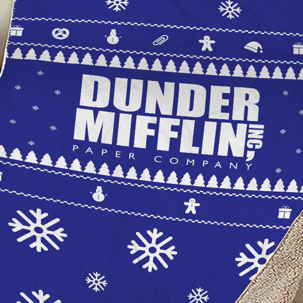 The Office Dunder Mifflin Holiday Sherpa Blanket-secondary-image