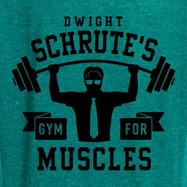 The Office Dwight Schrute's Gym for Muscles Tri-Blend Zip-Up Hooded Sweatshirt