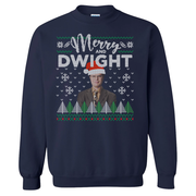 The Office Merry and Dwight Ugly Christmas Fleece Crewneck Sweatshirt