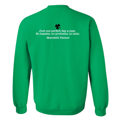 The Office Meredith's Perfect St. Patrick's Day Fleece Crewneck Sweatshirt