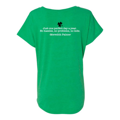 The Office Meredith's Perfect St. Patrick's Day Women's Tri-Blend Dolman T-Shirt