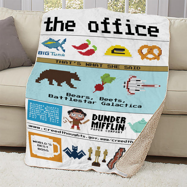 The Office 8-Bi Sherpa Blanket