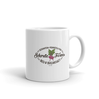 The Office Schrute Farms Bed & Breakfast White Mug
