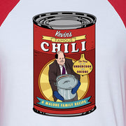 The Office Kevin's Famous Chili 3/4 Sleeve Baseball T-Shirt