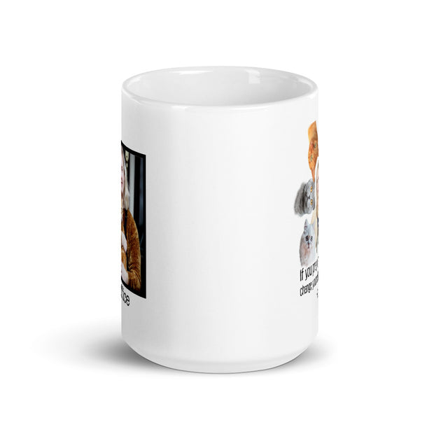 The Office Angela's Personalized Cat White Mug