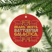The Office Bears. Beets. Battlestar Galactica. Double-Sided Ornament