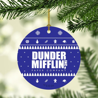 The Office Dunder Mifflin Holiday Double-Sided Ornament