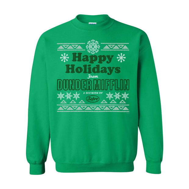 The Office Dunder Mifflin Happy Holidays Ugly Christmas Sweatshirt