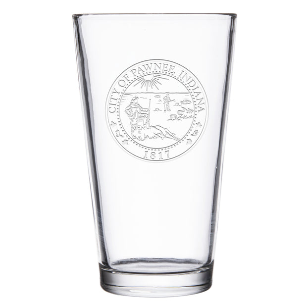 Parks and Recreation City of Pawnee Laser Engraved Pint Glass