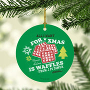 Parks and Recreation Waffles Double-Sided Ornament