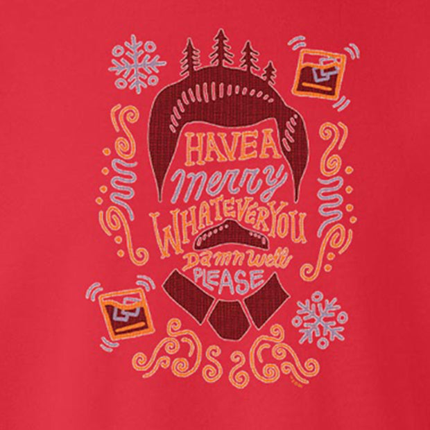 Parks and Recreation Ron Swanson Merry Whatever Ugly Christmas Sweatshirt