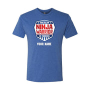 Personalized American Ninja Warrior In Training Men's Tri-Blend Short Sleeve T-Shirt