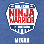 Personalized American Ninja Warrior In Training Women's Tri-Blend Short Sleeve T-Shirt