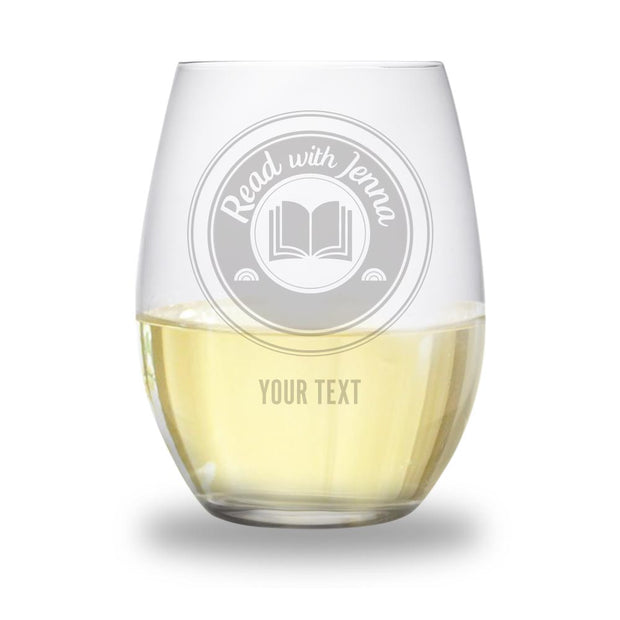 TODAY Read with Jenna Personalized Stemless Wine Glass