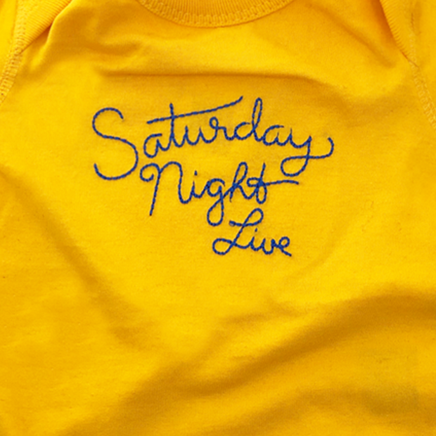 Saturday Night Live Stitched Logo Baby Bodysuit