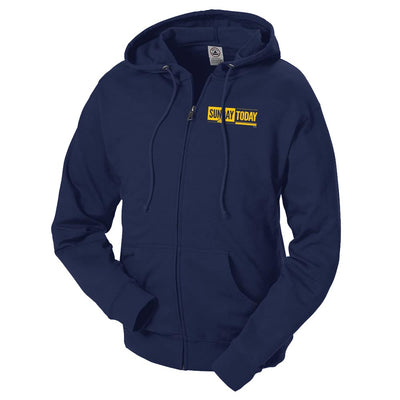 Sunday TODAY with Willie Geist Fleece Zip-Up Hooded Sweatshirt