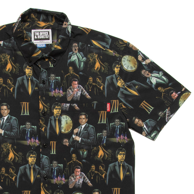 "The Office ""Threat Level Midnight"" Button Down Shirt"