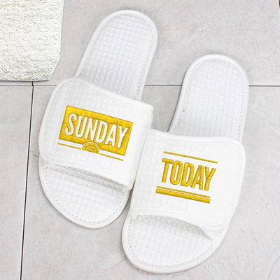 Sunday TODAY with Willie Geist Waffle Slippers
