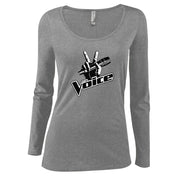The Voice Logo Women's Scoop Neck Long Sleeve Shirt