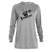The Voice Logo Adult Tri-Blend Raglan Hoodie