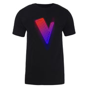 The Voice Neon Logo Adult Short Sleeve T-Shirt
