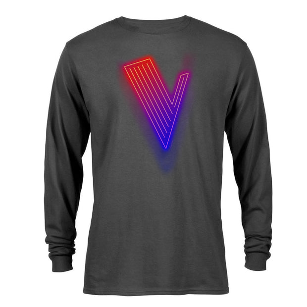 The Voice Neon Logo Adult Long Sleeve T-Shirt