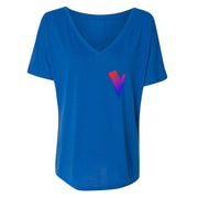 The Voice Neon Logo Women's Relaxed V-Neck T-Shirt