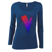 The Voice Neon Logo Women's Scoop Neck Long Sleeve Shirt
