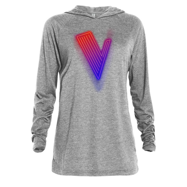 The Voice Neon Logo Adult Tri-Blend Raglan Hoodie