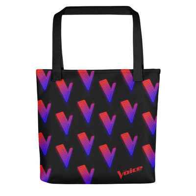 The Voice Neon Logo Premium Tote Bag