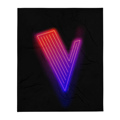 The Voice Neon Logo Fleece Blanket
