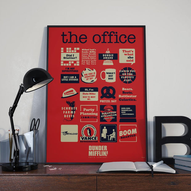 The Office Quote Mash-Up Poster