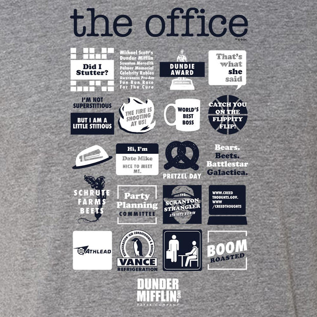 The Office Quote Mash-Up Men's Tri-Blend Short Sleeve T-Shirt