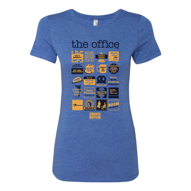 The Office Quote Mash-Up Women's Tri-Blend Short Sleeve T-Shirt