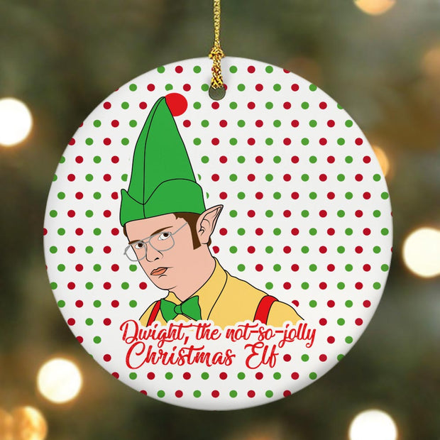 The Office Dwight Elf Double-Sided Ornament